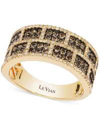 Le Vian - Natural White And Chocolate Diamond Rectangle Band In 14k Gold (1-1/4 Ct. T.w.) - Lyst