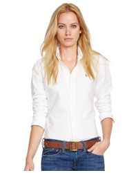 Polo Ralph Lauren | White Slim Fit Long-sleeve Oxford Shirt | Lyst