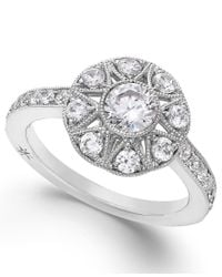 Marchesa | Antique Star By Certified Diamond Engagement Ring In 18k White Gold (1 Ct. T.w.) | Lyst