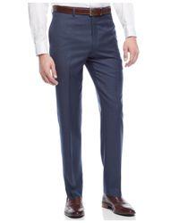 Lauren by Ralph Lauren - Slim-fit 100% Wool Blue Sharkskin Dress Pants for Men - Lyst