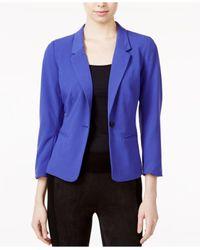 Kensie | Purple Three-quarter-sleeve Blazer | Lyst