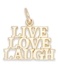 Macy's | Metallic Live Laugh Love Stacked Charm In 14k Gold | Lyst