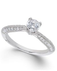 Marchesa - Classic By Certified Diamond Engagement Ring In 18k White Gold (7/8 Ct. T.w.) - Lyst