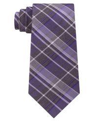 Kenneth Cole Reaction - Purple Men's Plaid Tie for Men - Lyst