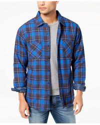 Quiksilver Blue Men's Fleece-lined Flannel Shirt for men