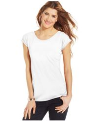 Style & Co. | White Scoop-neck T-shirt, Only At Macy's | Lyst