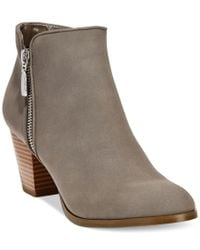 Style & Co. | Gray Style& Co. Jamila Zip Booties, Only At Macy's | Lyst