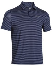 Under Armour | Blue Men's Playoff Performance Striped Golf Polo for Men | Lyst