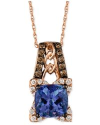 Le Vian | Blue Tanzanite (1-3/8 Ct. T.w.) And Diamond (1/3 Ct. T.w.) Pendant Necklace In 14k Rose Gold | Lyst