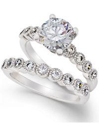 Arabella | Metallic Swarovski Zirconia Bridal Set In Sterling Silver | Lyst