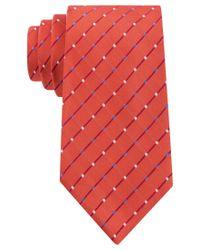 Geoffrey Beene - Orange City Grid Tie for Men - Lyst