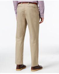Cutter & Buck - Brown Big And Tall Beckett Flat-front Pants for Men - Lyst