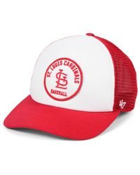 47 Brand Red St. Louis Cardinals Swell Trucker Mvp Cap for men