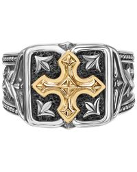 Scott Kay Metallic Men's Two-tone Ring In Sterling Silver And 18k Gold for men
