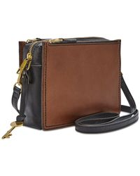 Fossil - Brown Campbell Mini Leather Crossbody - Lyst