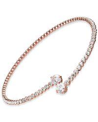 Joan Boyce - Metallic Crystal Bypass Collar Necklace - Lyst