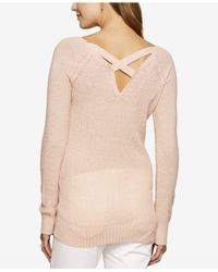Jessica Simpson - Pink Maternity V-neck Sweater - Lyst