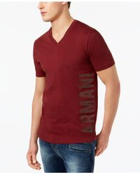 Armani Exchange Red Grphic-print T-shirt for men