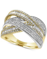 Effy Collection - Metallic Diamond Wrap Ring (1-1/4 Ct. T.w.) In 14k Yellow And White Gold - Lyst