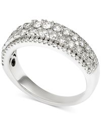 Macy's - Metallic Diamond Two-row Band (1 Ct. T.w.) In 14k White Gold - Lyst