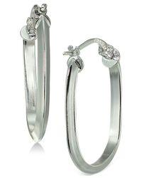 Giani Bernini Metallic Geometric Hoop Earrings In Sterling Silver