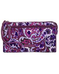 Vera Bradley - Purple Rfid Front-zip Wristlet - Lyst