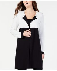 Alfani Black Coloblocked Open-front Cardigan, Created For Macy's