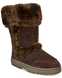 Style & Co. Brown Witty Faux-fur Cold Weather Boots
