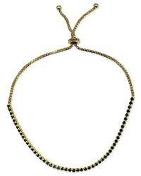 Giani Bernini - Metallic Black Cubic Zirconia Slider Bracelet In 18k Gold-plated Sterling Silver - Lyst