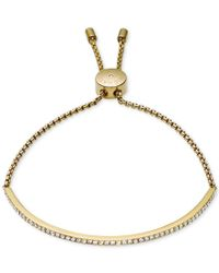 Michael Kors | Metallic Clear Bar Slide Bracelet | Lyst