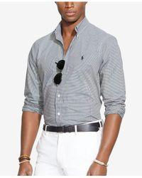 Polo Ralph Lauren | Black Checked Poplin Shirt for Men | Lyst