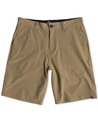 Quiksilver Brown Men's Everyday Solid Hybrid Shorts for men
