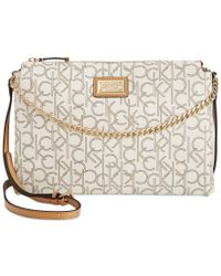 Calvin Klein Natural Hudson Monogram Crossbody