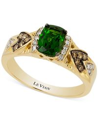 Le Vian | Green Chrome Diopside (3/4 Ct. T.w.) And Diamond (1/6 Ct. T.w.) Ring In 14k Gold | Lyst
