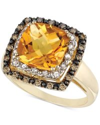 Le Vian - Yellow Citrine (3-5/8 Ct. T.w.), White Sapphire (1/6 Ct. T.w.) And Diamond (1/5 Ct. T.w.) Ring In 14k Gold - Lyst