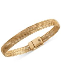 Kenneth Cole | Metallic Gold-tone Mesh Bracelet | Lyst