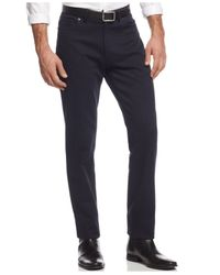 Vince Camuto | Blue Men's Slim Crosshatch Slim-fit Stretch Pants for Men | Lyst