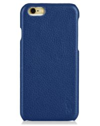 Polo Ralph Lauren Blue Pebbled Leather Iphone Case for men