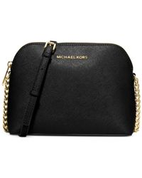 Michael Kors - Black Jet Set Travel Large Dome Crossbody - Lyst