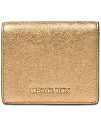 Michael Kors - Metallic Money Pieces Flap Card Holder - Lyst