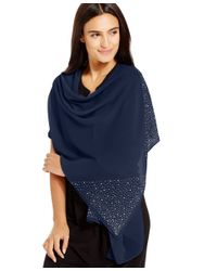 Style & Co. | Blue Style&co. Scattered Stone Wrap | Lyst
