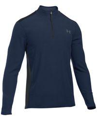 Under Armour | Blue Men's Coldgear Infrared 1/4 Zip Fleece for Men | Lyst