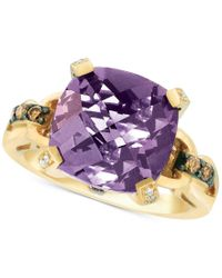Le Vian | Purple Chocolatier Amethyst (5-5/8 Ct. T.w.) And Diamond (1/4 Ct. T.w.) Ring In 14k Gold | Lyst