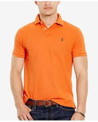 Polo Ralph Lauren Orange Slim-fit Mesh Polo Shirt for men
