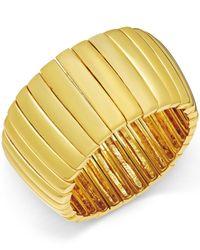 ABS By Allen Schwartz - Metallic Gold-tone Bar Stretch Bracelet - Lyst