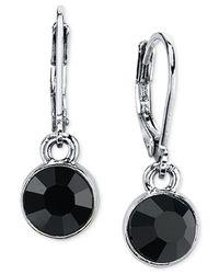 2028   Metallic Round Crystal Drop Earrings   Lyst