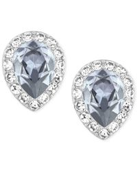 Swarovski | Metallic Rhodium-plated Christie Pear Crystal Earrings | Lyst