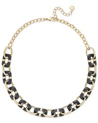 Charter Club | Black Colored-link Statement Necklace | Lyst