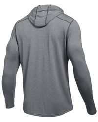 Under Armour Gray Threadborne Knit Hoodie for men