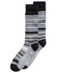 Alfani - Black Variegated Stripe Socks, Created For Macy's for Men - Lyst